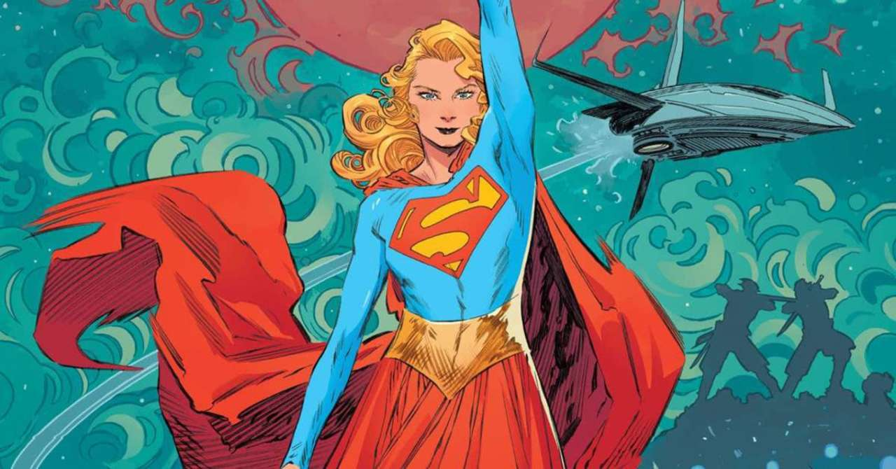 Supergirl standing up straight on the cover of Supergirl: Woman of Tomorrow#1. This is DC's second none-Batman win after Static.