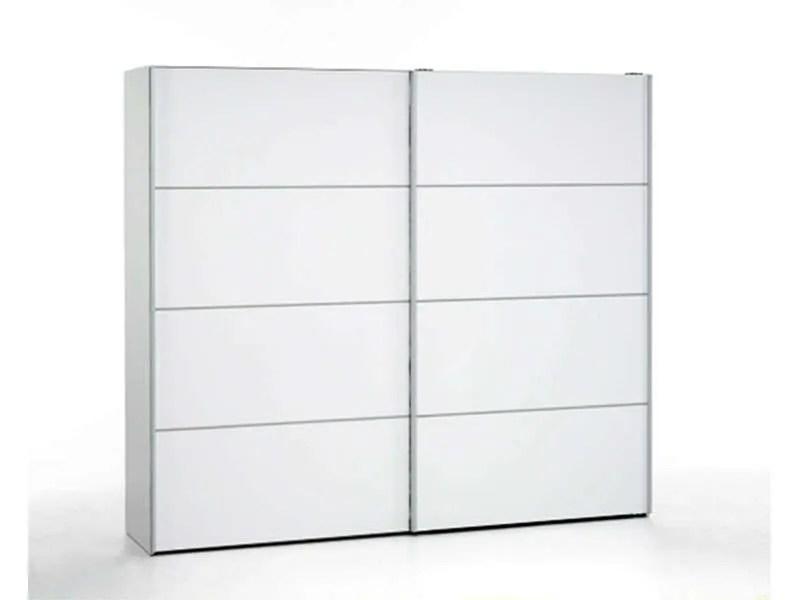armoire 2 portes coulissantes 240 cm verona coloris blanc vente de armoire conforama