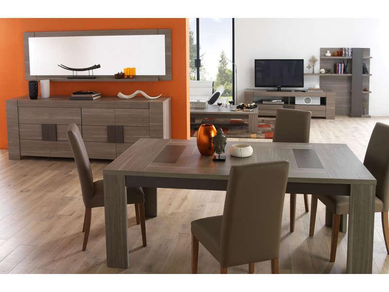 Table Rectangulaire 180 Cm ATLANTA Coloris Chne Fusain