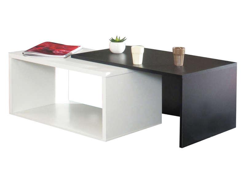 table basse gigogne rubis coloris blanc