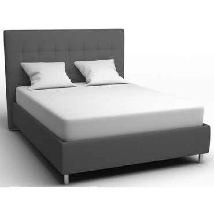 Lit 140x190 cm CAPRI coloris gris