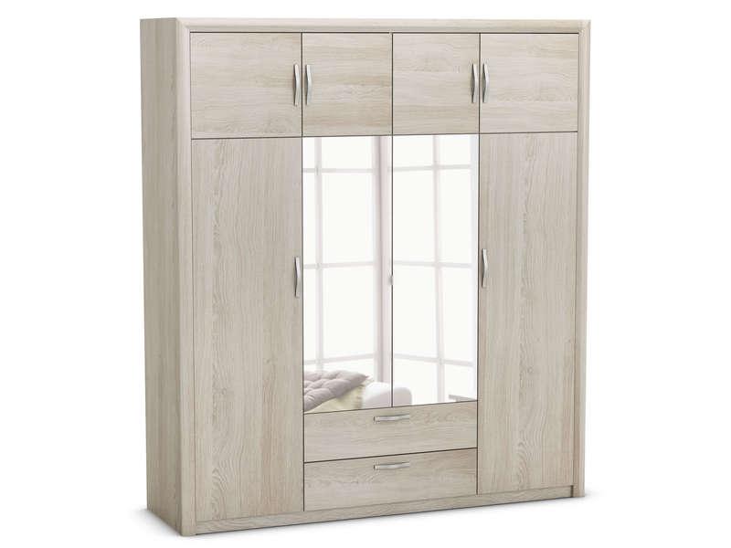 armoire 8 portes pluton coloris chene shanon vente de armoire conforama