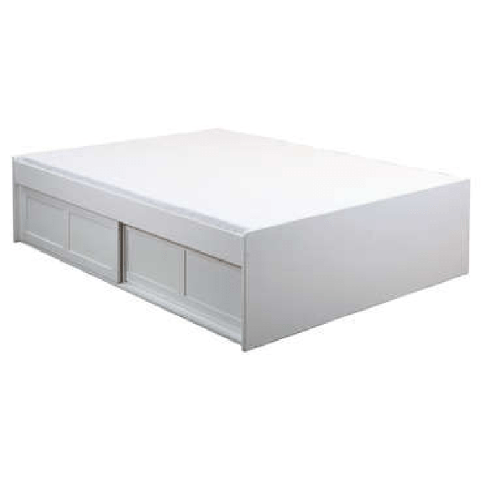Lit adulte 140x190 cm BELEM coloris blanc