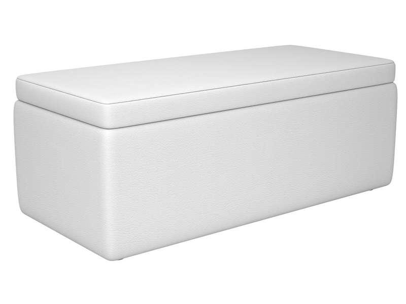 Banc Coffre En Pu Coloris Blanc Vente De Chaise De Jardin