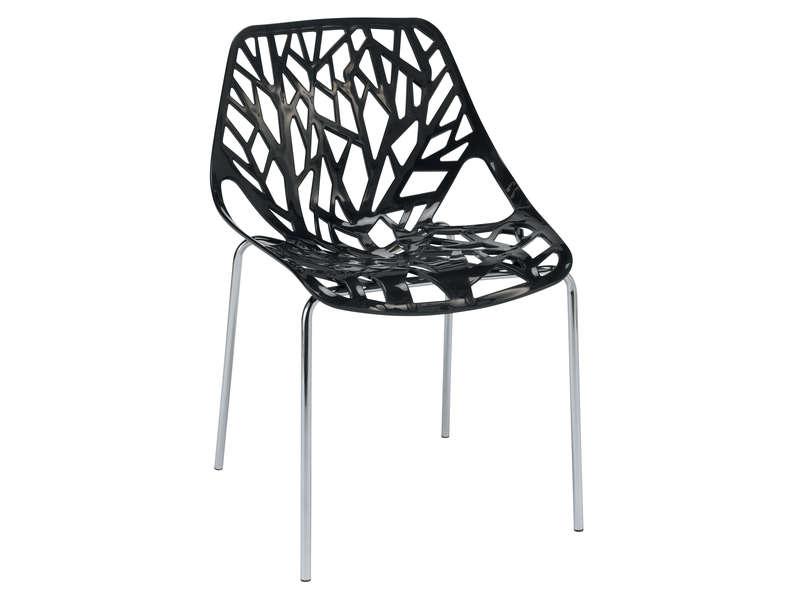 Chaise SHAFT Coloris Noir Vente De Chaise Conforama