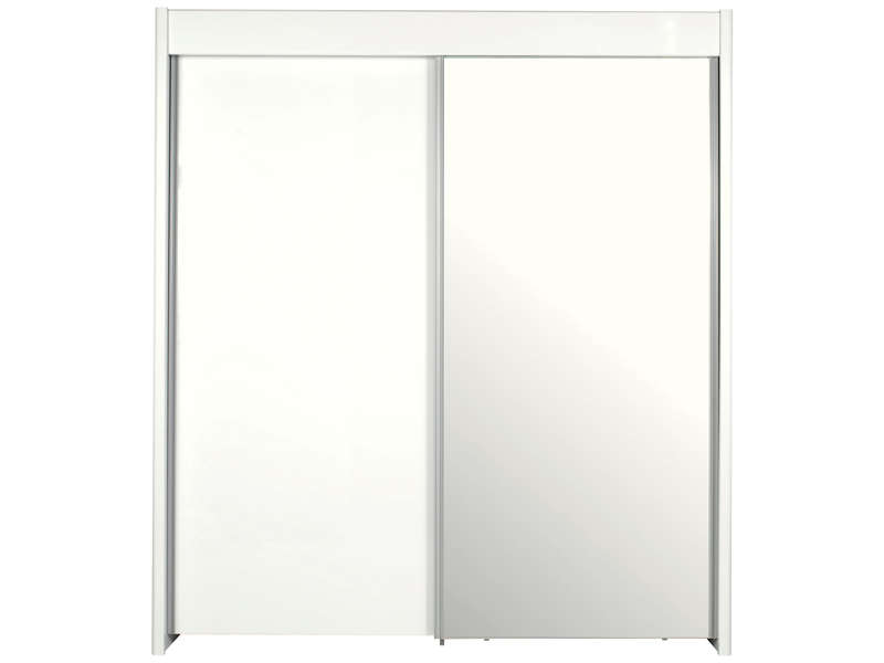 armoire 2 portes coulissantes easy 3 coloris blanc vente de armoire conforama