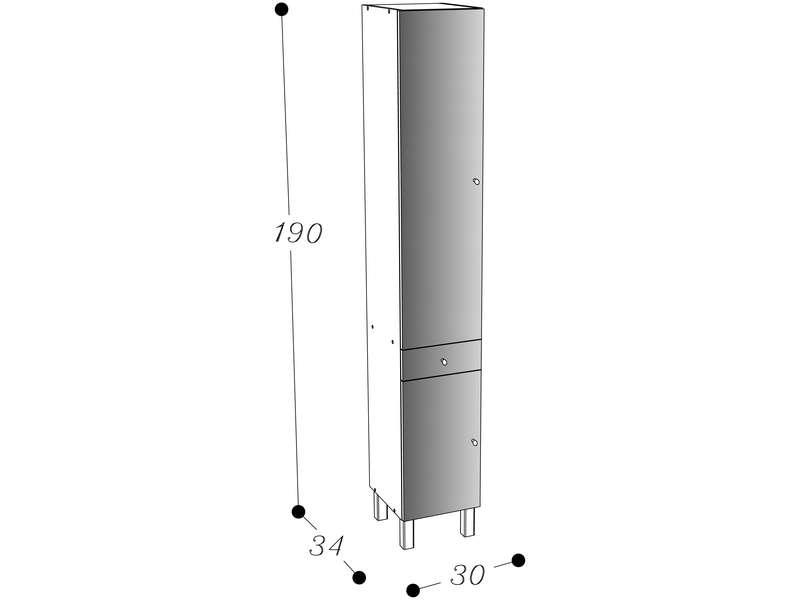 Armoire 75 Cm Largeur