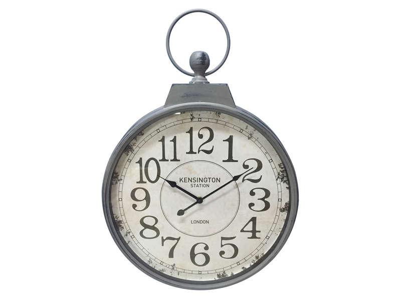 horloge murale a aiguilles kensington coloris noir vente de horloge conforama