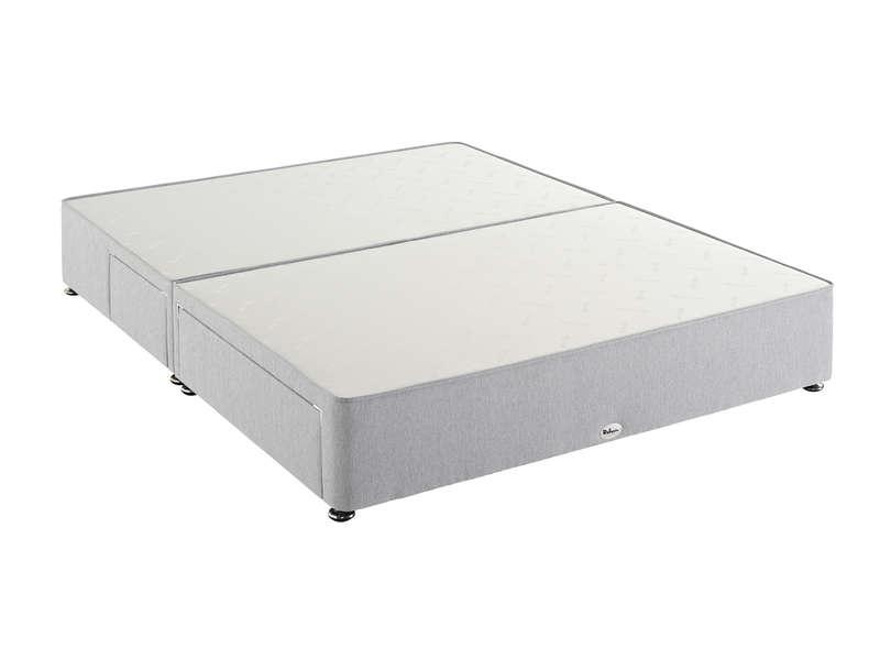 sommier 160x200 cm 4 tiroirs relyon bedbase 30 4t coloris gris clair vente de sommier et cadre a lattes conforama