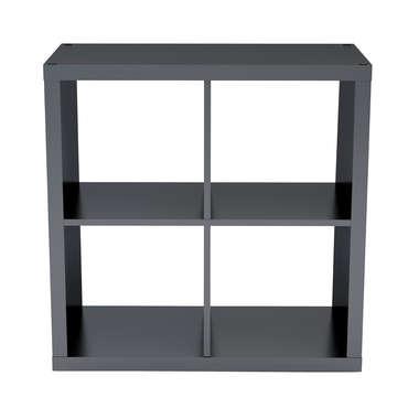 bibliotheque 4 cases alvin coloris noir