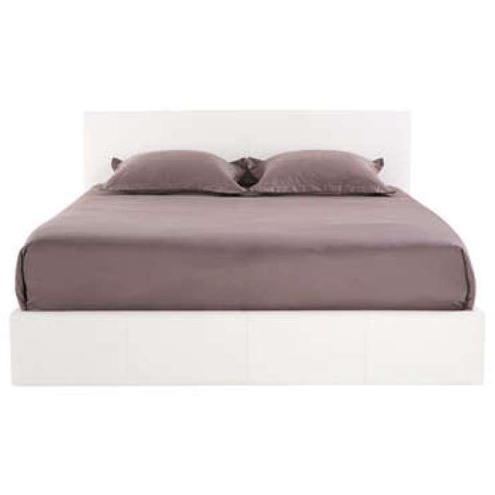 Lit-coffre 160x200 cm avec led STEVA LIGHT coloris blanc