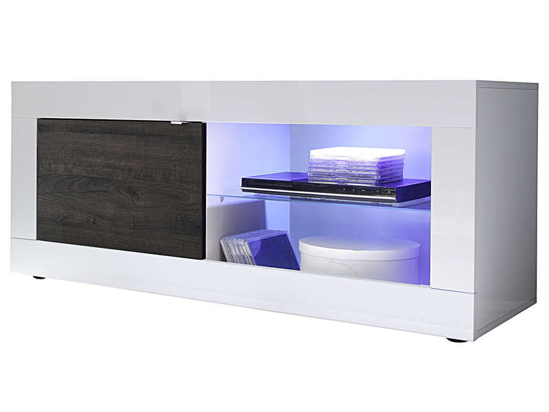 Meuble TV 140 Cm TOPIC Coloris Blancweng Vente De