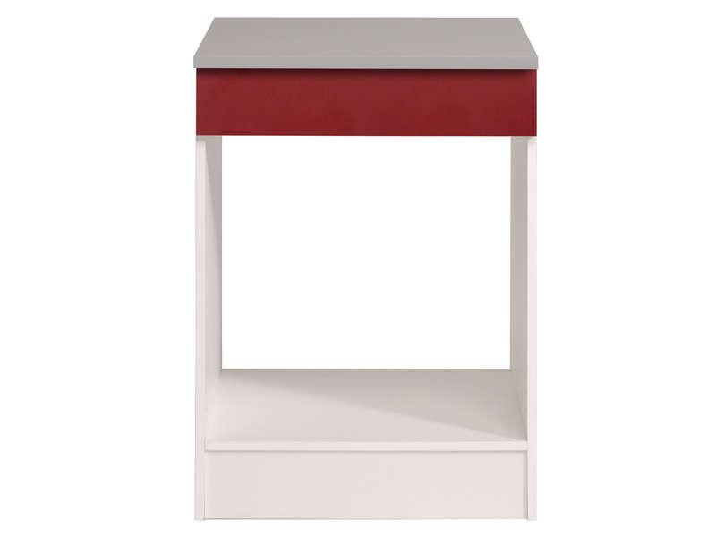 meuble bas 60 cm four plaque