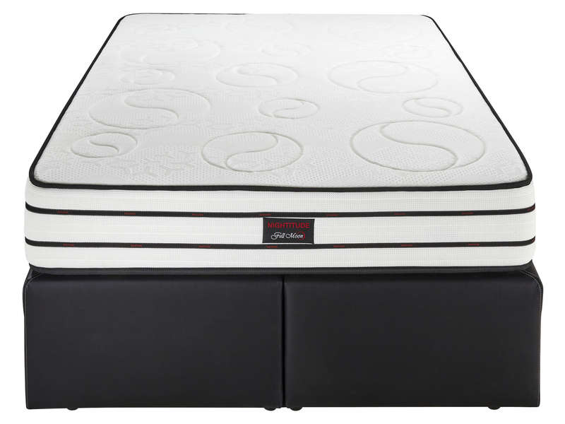 sommier tapissier avec tiroir 140x190 cm nightitude slide vente de sommier et cadre a lattes conforama
