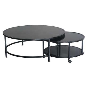 table basse logan coloris noir vente