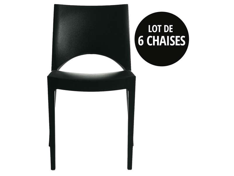 lot de 6 chaises empilables