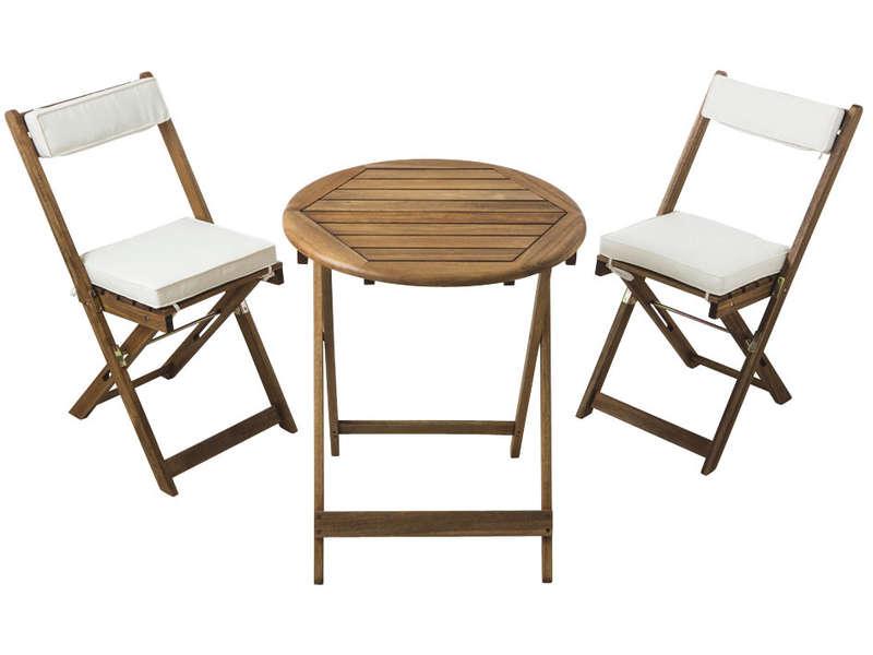 ensemble table et chaises de jardin rond