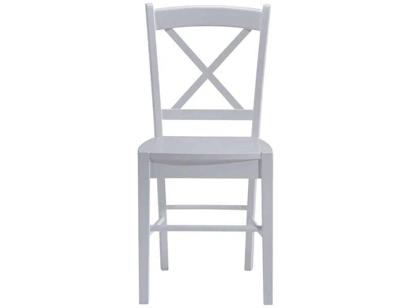 chaise en bois massif cottage coloris