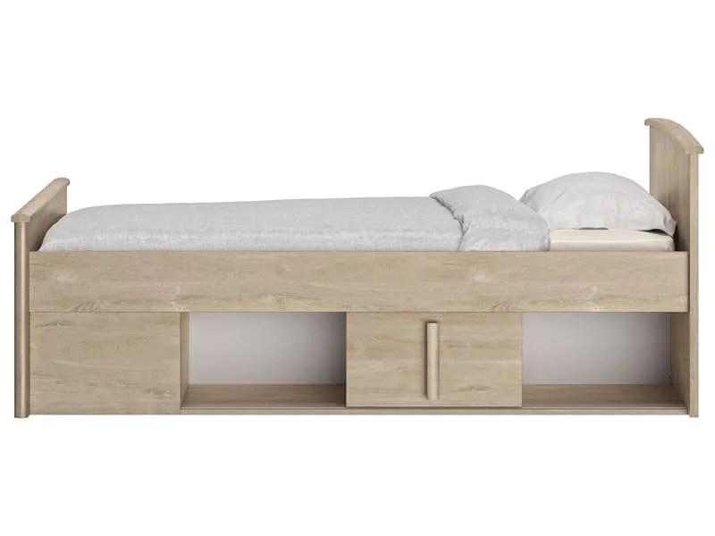lit avec rangement 90x190 cm
