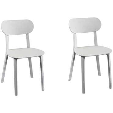 lot de 2 chaises detroit coloris blanc