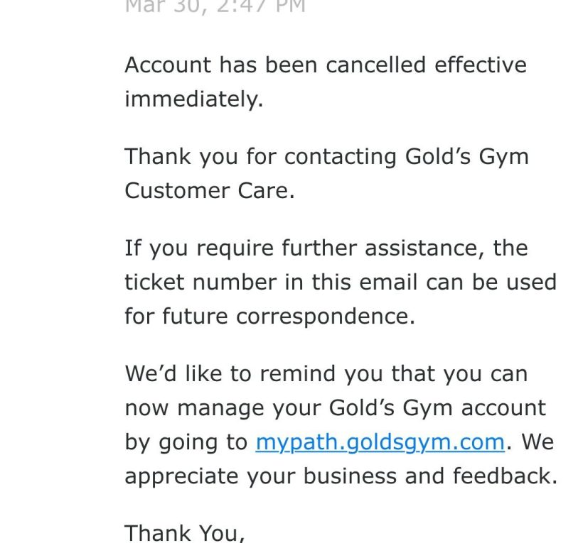 Anytime Fitness Cancellation Letter | Amatfitness.co