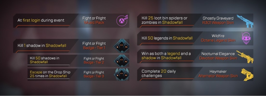Apex Legends Fight or Fright Event