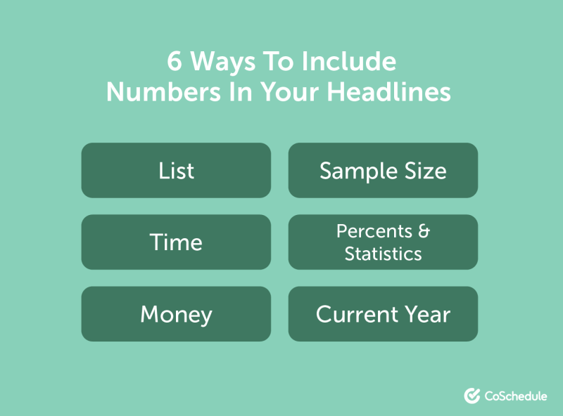 6 ways to include numbers in your headlines