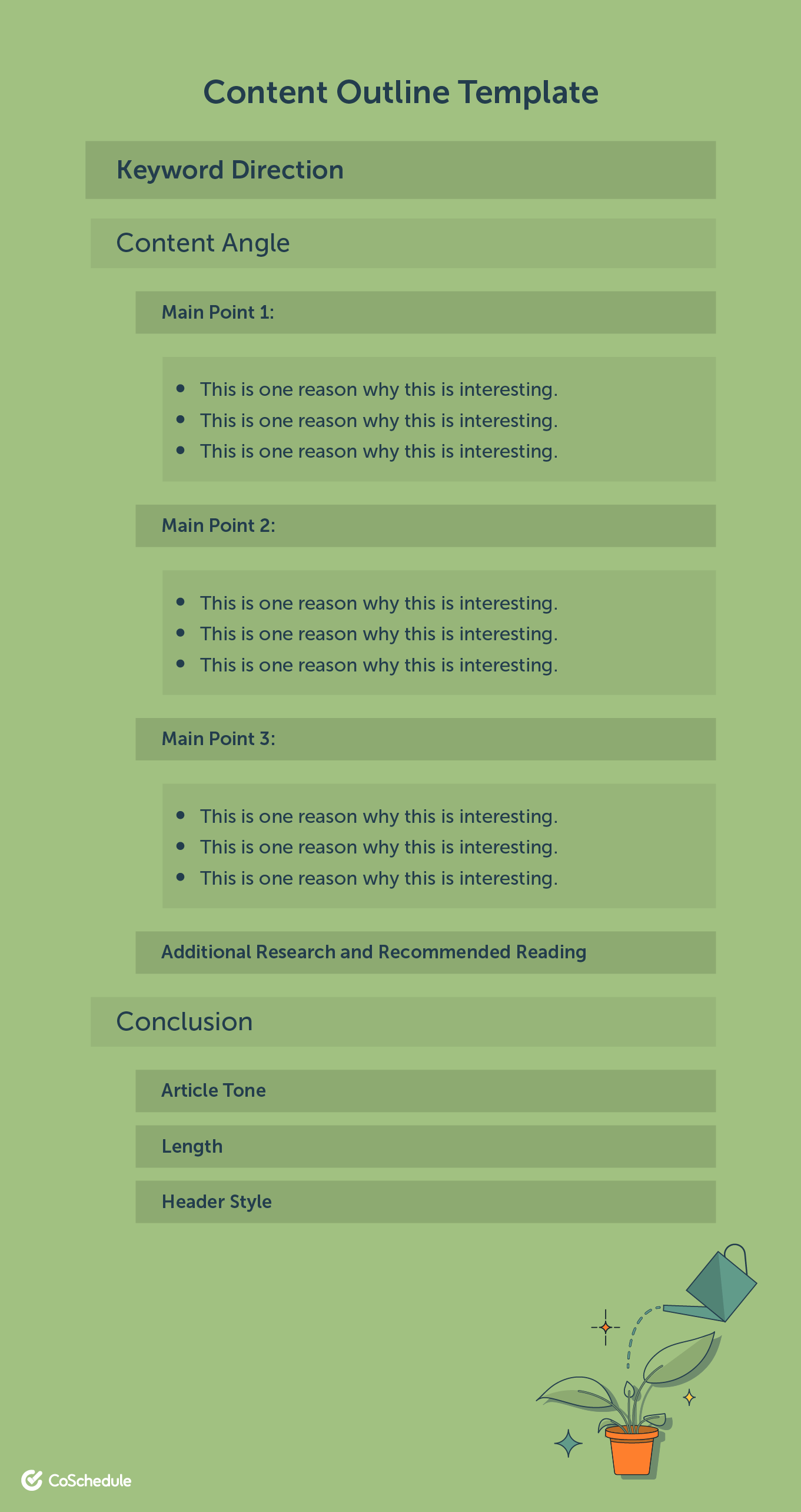 Content outline template