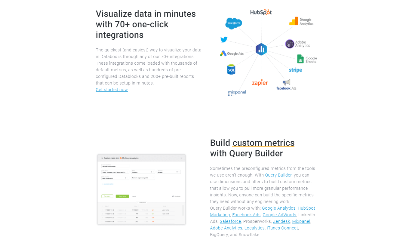 Databox product page