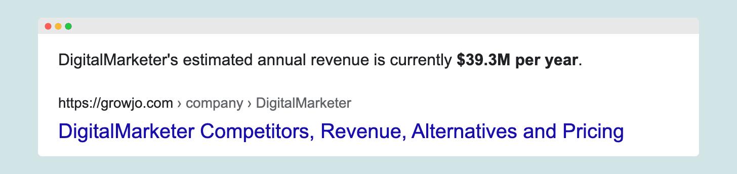 DigitalMarketer estimated ARR