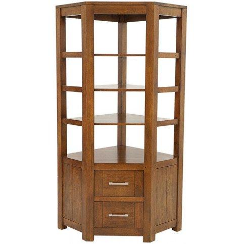 bibliotheque d angle style contemporain 2 tiroirs bois massif tribeca