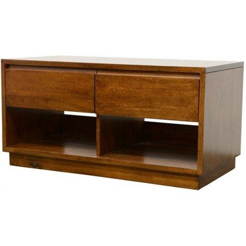 meuble tv style scandinave 2 tiroirs bois massif skur