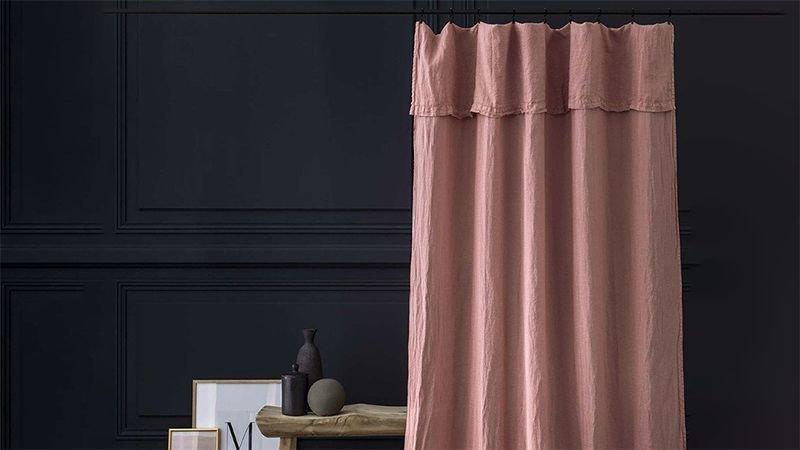 rideau lin lave 140x270cm cote maison interieur decors