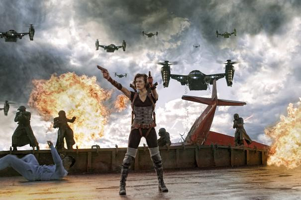 This RESIDENT EVIL: RETRIBUTION trailer is all a dream! 8