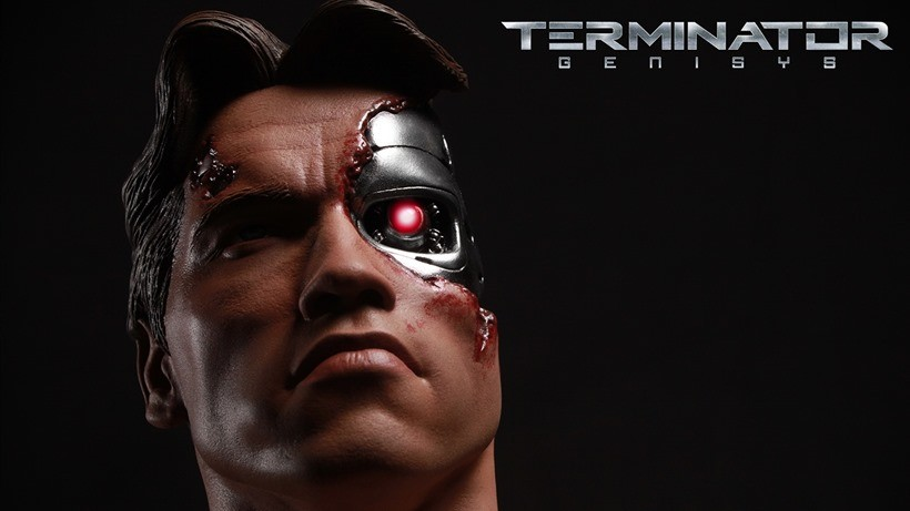 The Terminator Genisys bust wants your clothes,your boots and possibly a few limbs 2