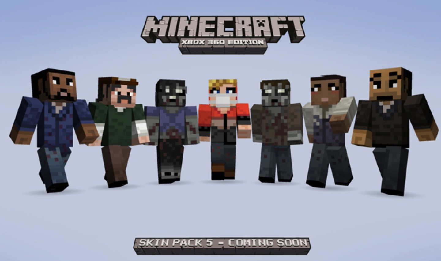 Pokemon and Walking Dead skins for Minecraft and Cubeworld
