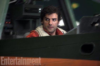 Star Wars: The Last Jedi Poe Dameron (Oscar Isaac) Credit: Jonathan Olley/ILM/© 2017 Lucasfilm Ltd.