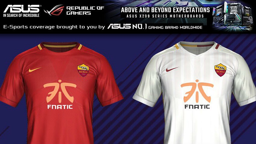 Fnatic appears on AS Roma kit in FIFA 2018 - Critical Hit adf2b3365