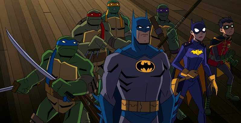 Half shell heroes and the Dark Knight collide in this trailer for Batman vs Teenage Mutant Ninja Turtles 2