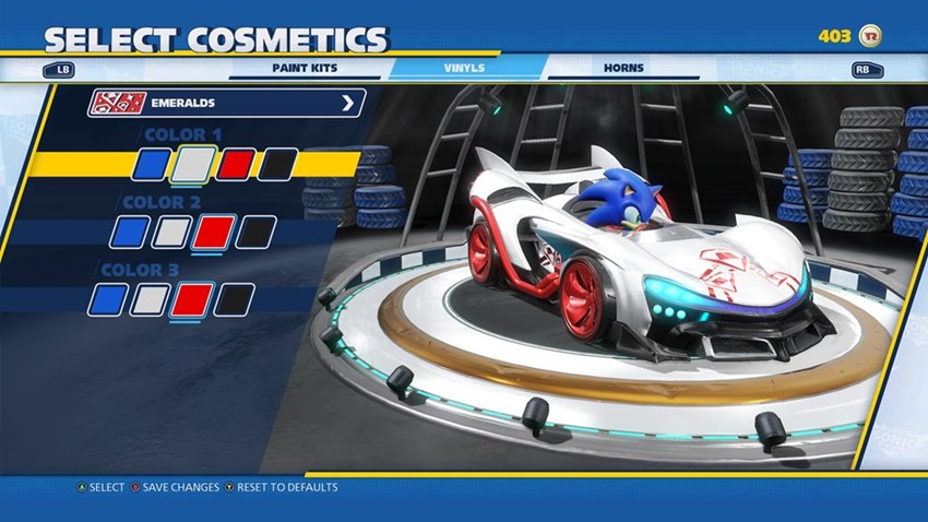 Sega shows off customisation in Team Sonic Racing