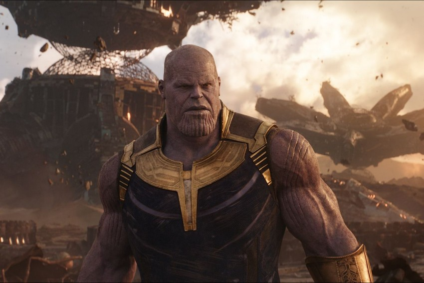 No Captain Marvel's Skrulls and Thanos are not related... well kinda 7