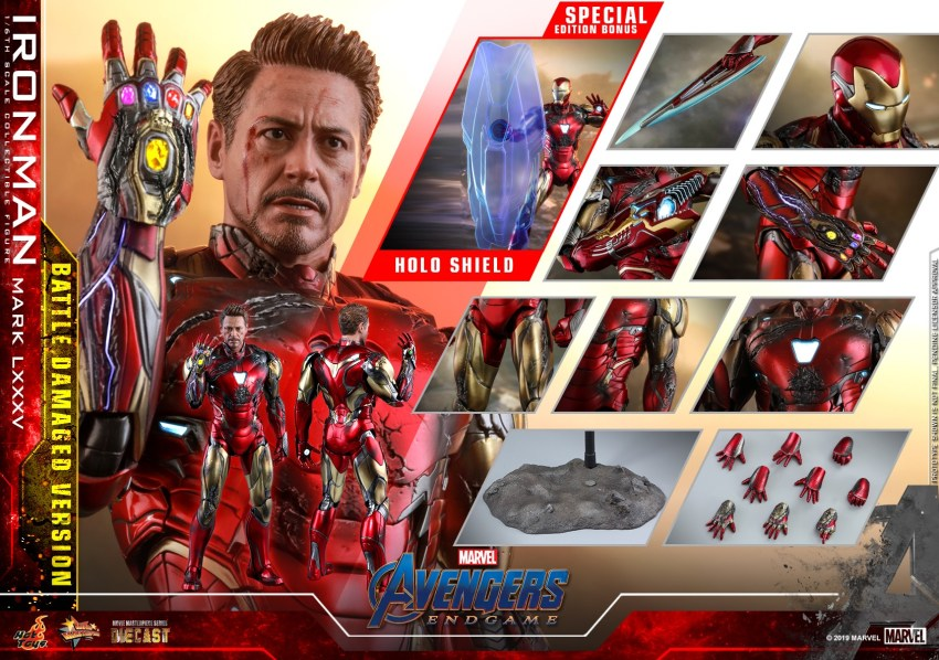 Relive (and cry about!) the best scene in Avengers: Endgame with this new Hot Toys Iron Man figure 42