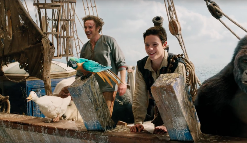 Robert Downey Jr. is not a people person in the first trailer for Dolittle 3