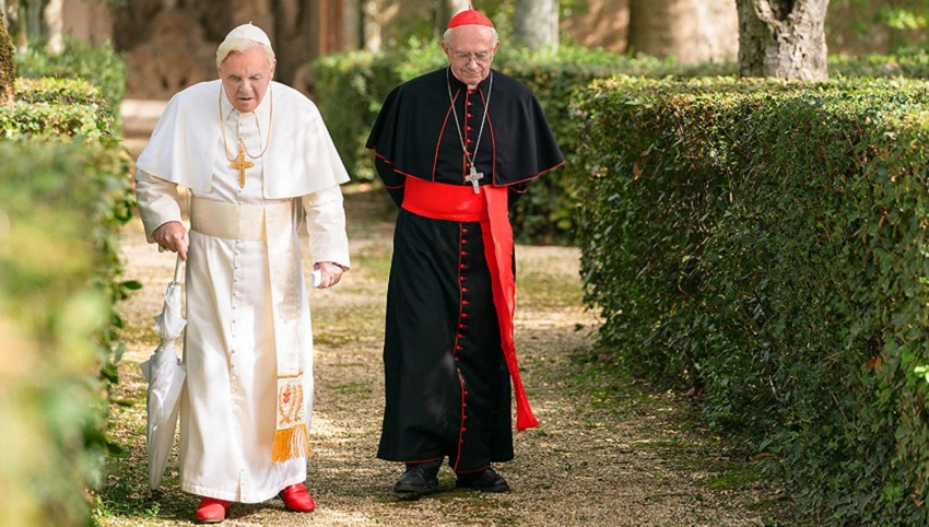 There's a changing of the guard in Netflix's biographical drama The Two Popes 3