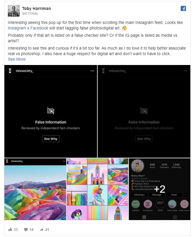 Instagram's plan to hide faked images is impacting real artists 4