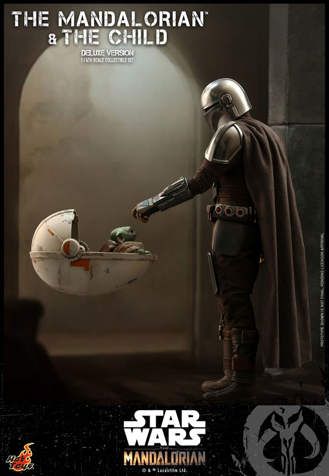 Hot Toys The Mandalorian has shiny armour, more firepower and Baby Yoda 22