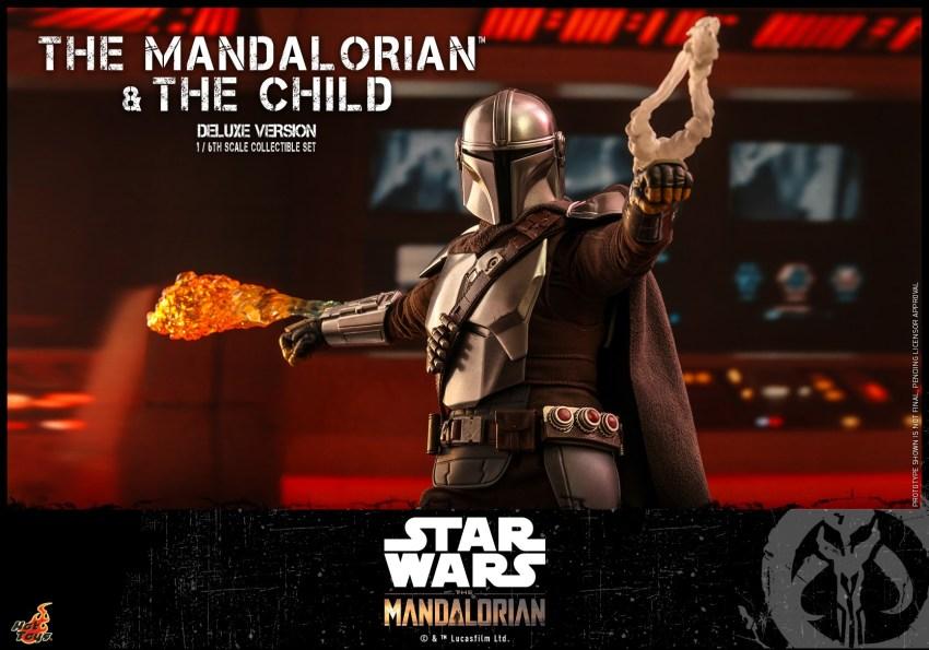 Hot Toys The Mandalorian has shiny armour, more firepower and Baby Yoda 32
