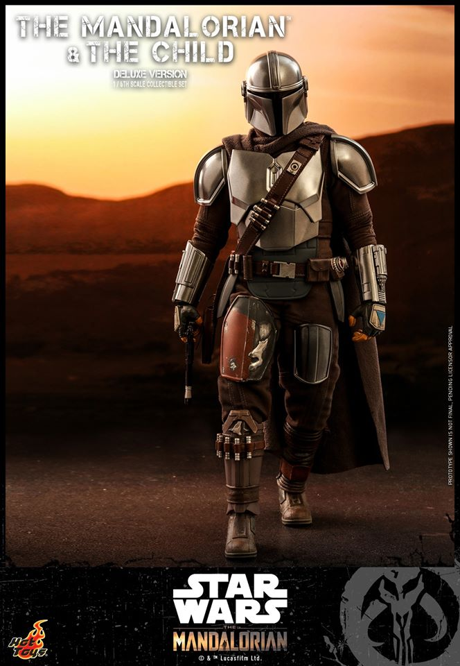 Hot Toys The Mandalorian has shiny armour, more firepower and Baby Yoda 27