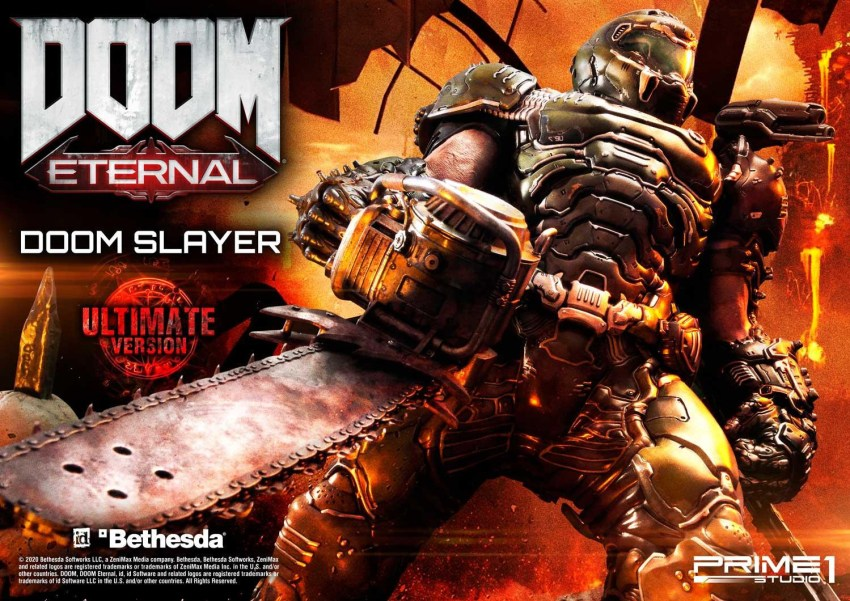 This $2400 DOOM Eternal Doom Slayer statue from Prime 1 is ready to rip and tear 47