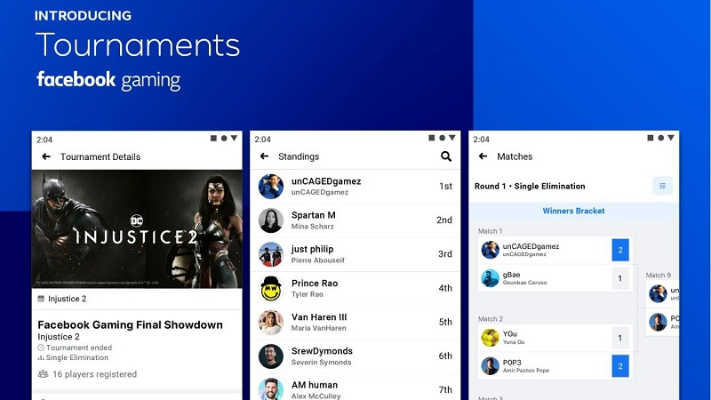 Facebook gaming launches Tournaments 3